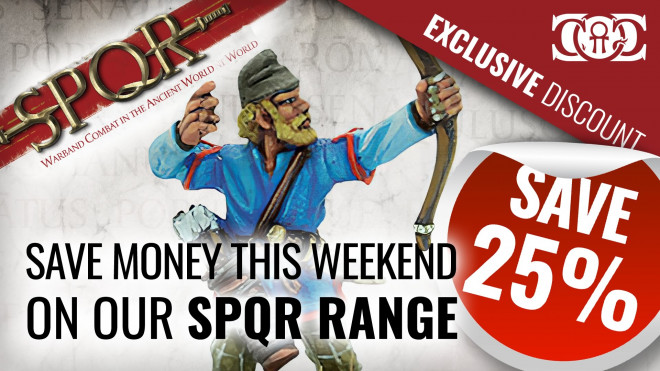 COG DEAL: SPQR 25% OFF RRP this Weekend!