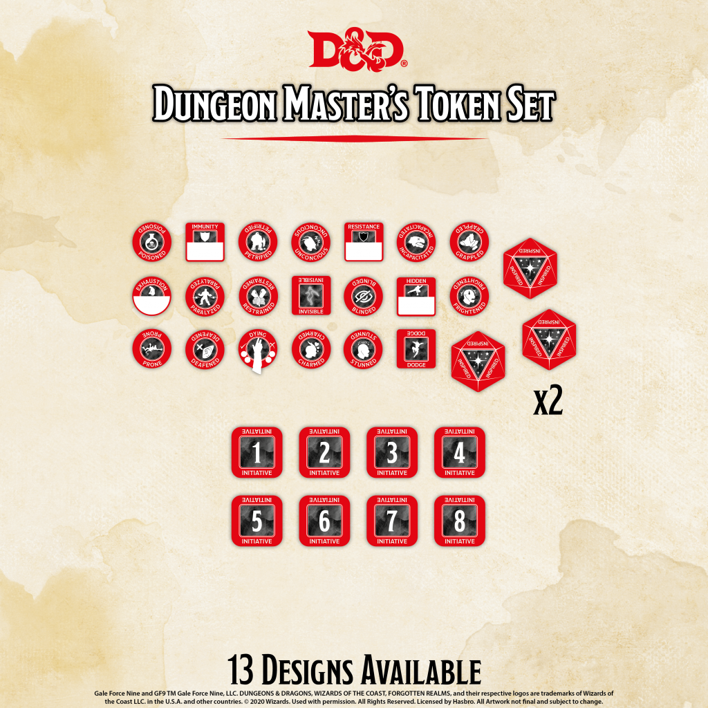 Dungeon Master Tokens - Gale Force Nine