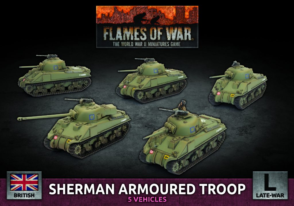 Sherman Armoured Troop - Battlefront Miniatures