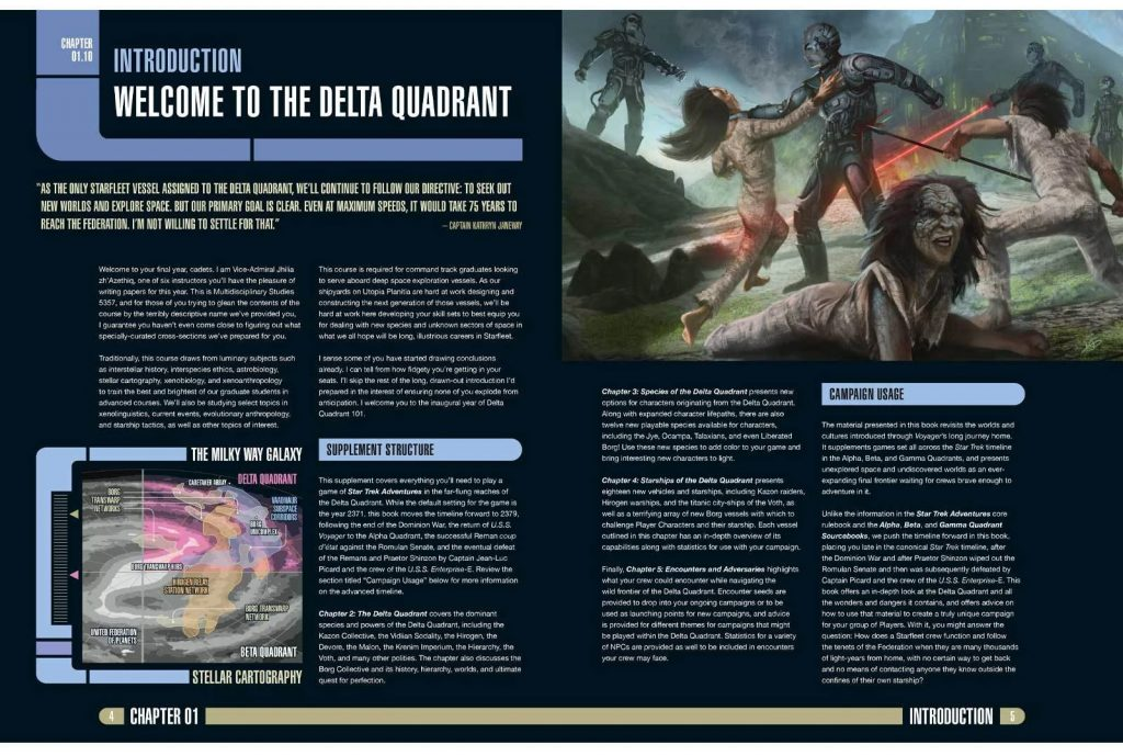 Star Trek Adventures Delta Quadrant Sourcebook Interior #1 - Modiphius