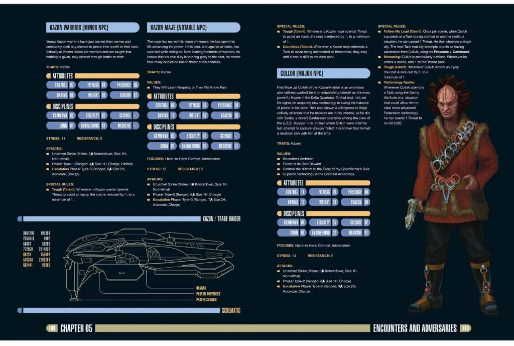 Star Trek Adventures Delta Quadrant Sourcebook Interior #2 - Modiphius