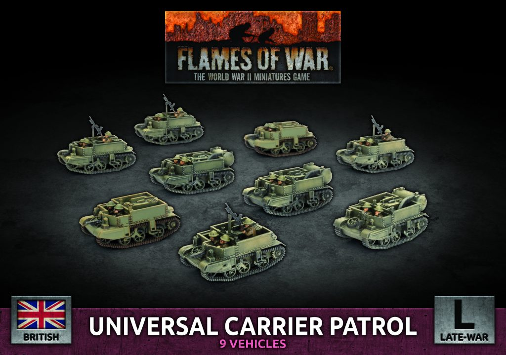 Universal Carrier Patrol - Flames Of War