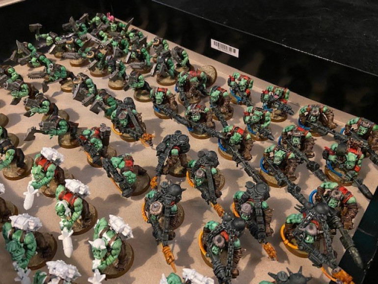 30 more Goff Boys, 10 Skorchas, 25 Tank Bustas (10 need finishing)