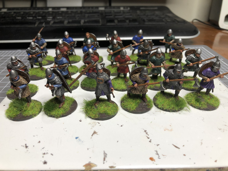 Flocked, Highlighted and varnished 20/4/20. 22 hours, 24 minis.