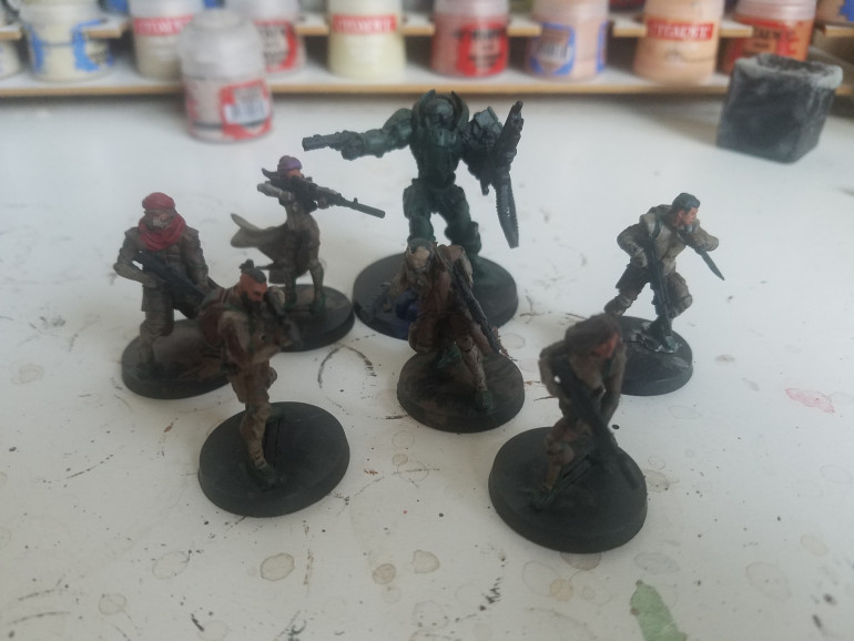 Washes applied