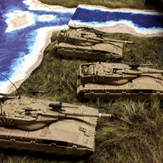 Merkavas and Vipers from the box set and expansions.