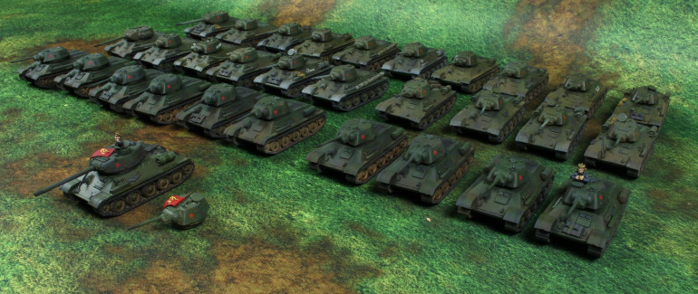 Soviet T 34 Battalion ready for war