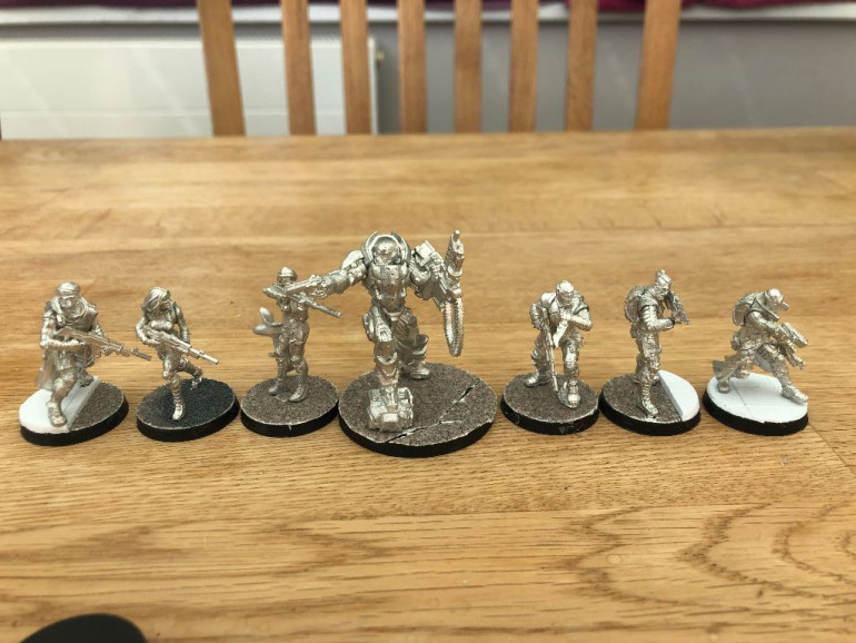 Model cleaning, assembly and basing