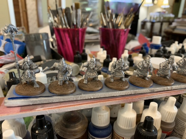 Here I've painted the base with Army Painter Leather Brown.