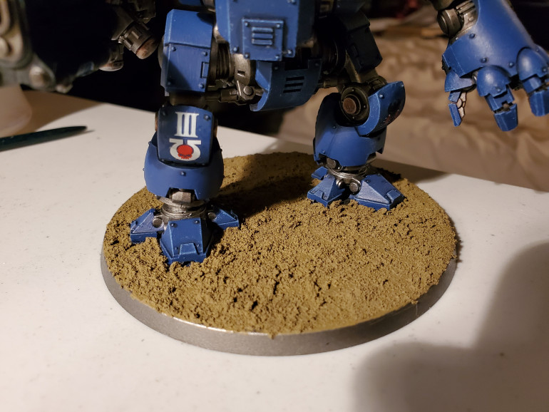 First a cover of Armageddon Dunes across the whole base (this was also the last of my Armageddon Dunes...).