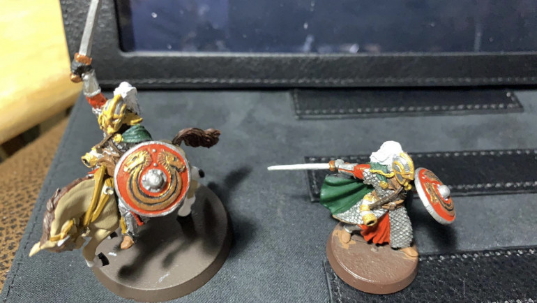 Erkenbrand & Horse Ready for wash and basing.