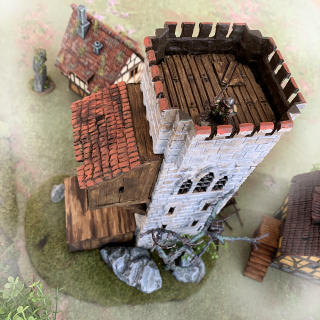 The big tower terrain piece is done!