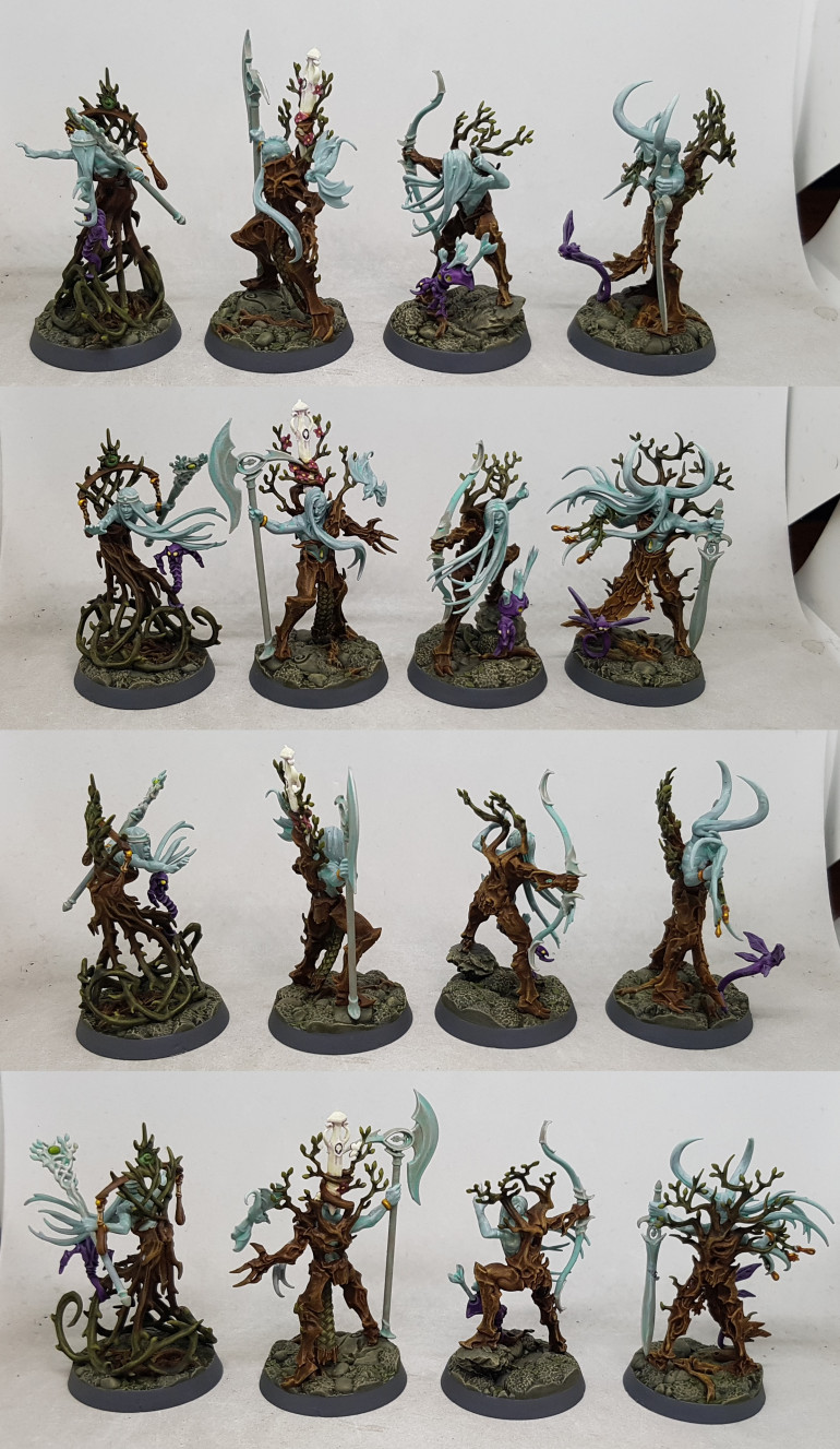 I also finished the palate cleanser models, Ylthari's Guardians for Warhammer Underworlds
