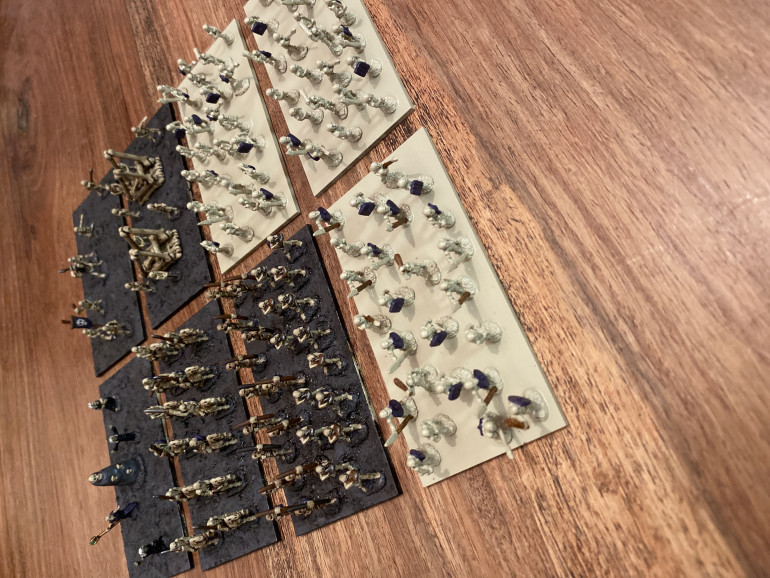 Undead Army after first day of painting