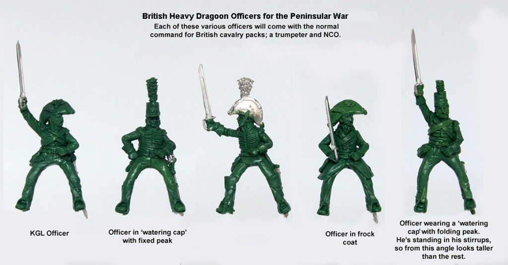 British Heavy Dragoons Officers - Perry Miniatures