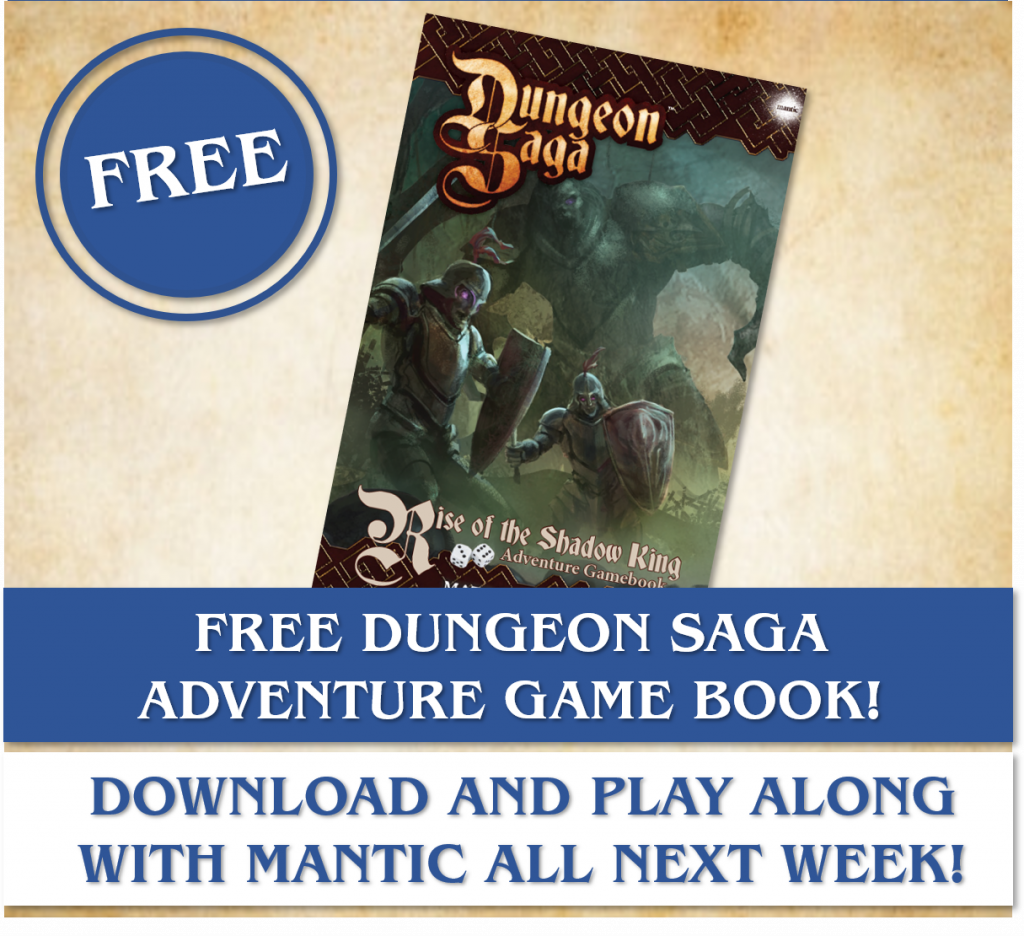 Dungeon Saga Adventure Game Book - Mantic Games
