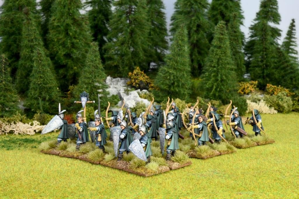 Elf Light Infantry Painted - Oathmark