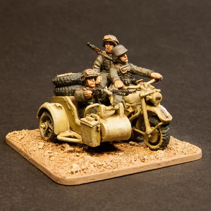 German Motorcycle Recce Team - Offensive Miniatures