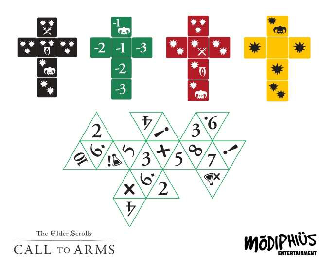 The Elder Scrolls Call To Arms Dice - Modiphius