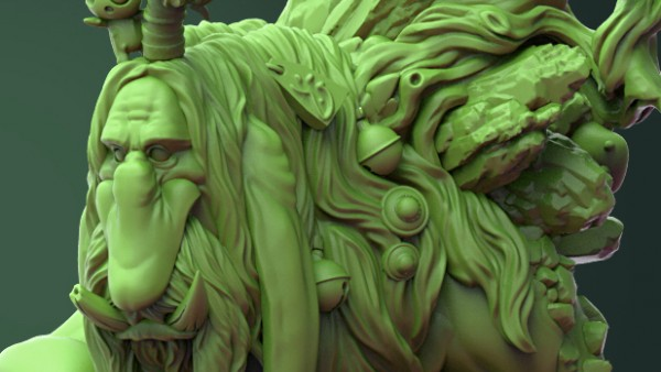 Durgin Paint Forge Sculpt Up A Wonderful Forest Troll