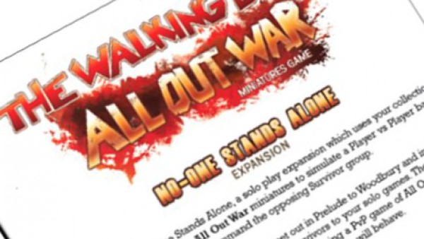 Mantic Games Release Free The Walking Dead Solo Play Rules