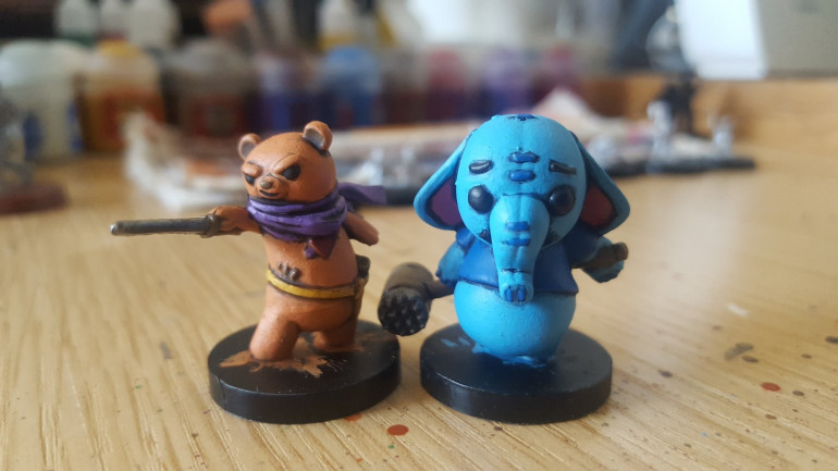 Painting Stuffed Fables For A Pal