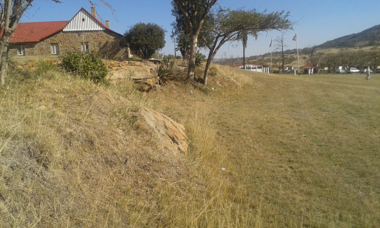 The rocky ledge the barricades were built on at Rorkes Drift. Handy for rock colours in the area.