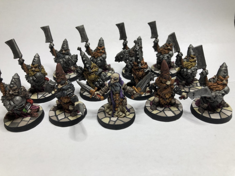 So a few more Massive Darkness Dwarves. 40 hours for 13 models. Longer than I expected considering there was no assembly required.