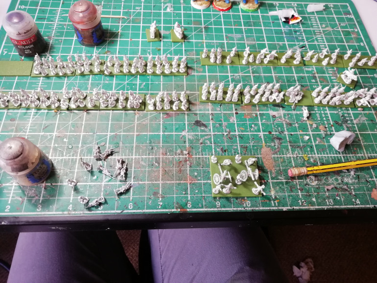 Organised the figures into my battalion.