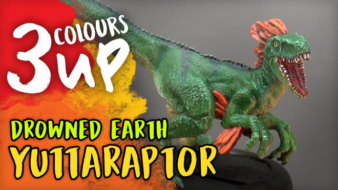3 Colours Up: Drowned Earth – Yuttaraptor | Miniature Painting