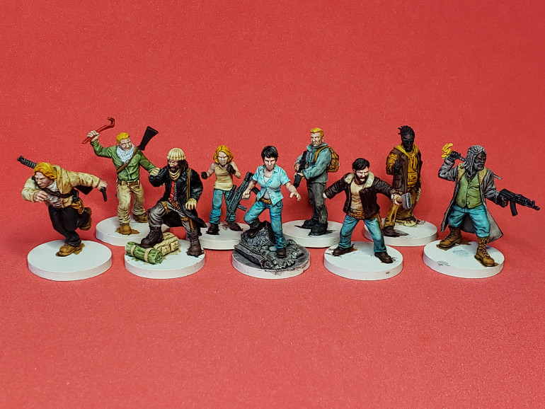 Wave 6 minis came in this week. Got everything built and bases magnetized. I use contrast paints for base coating and washing. That step is completed. Next up, on to highlighting. Super excited to get these on the table.