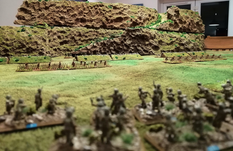 The view of the defensive position as the Polish begin their advance
