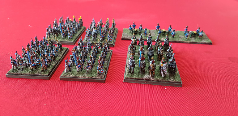 Another line battalion finished today and part way through another regiment of Dragoons. My little army is growing steadily.