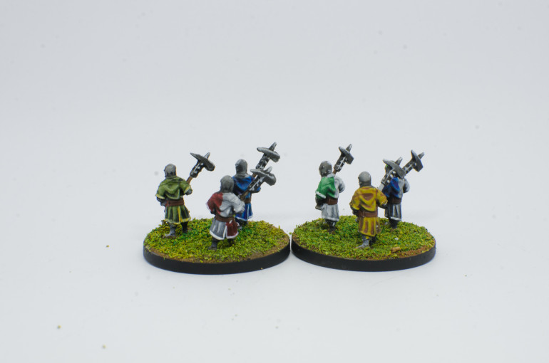 Foot Knights, with two handed weapons, Lloyd shot