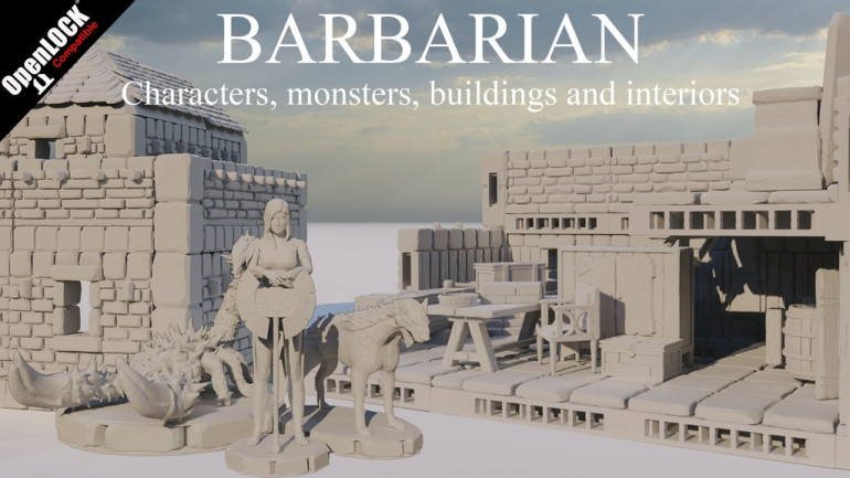 Barbarian - Characters, monsters, buildings and interiors