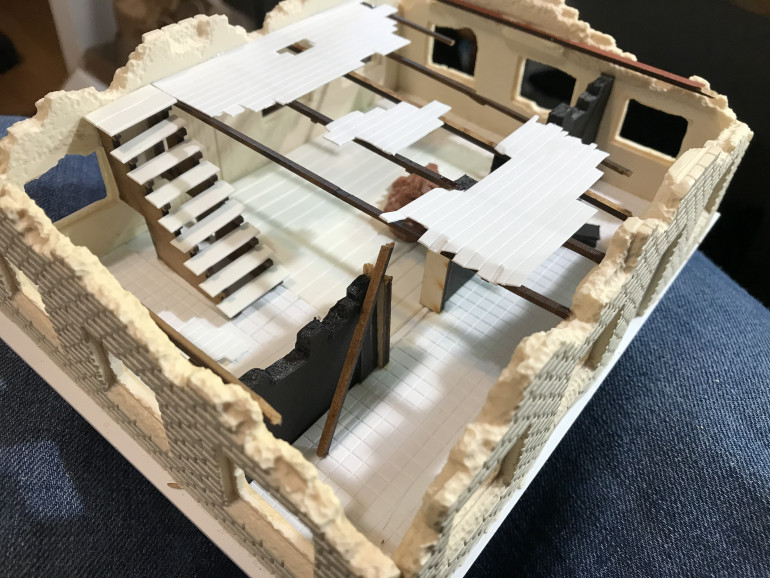 Resin walls from Armorcast.