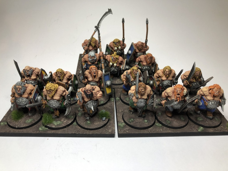 So another 6 Ogres giving me 3 KoW regiments worth of Ogres. These were the fastest by far with the regiment and 3 movement trays taking 15 hours from sprue to tabletop. I might do some cavalry next. Most importantly, at 133 days into 2020 I've painted 153 minis!