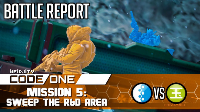 [Battle Report] Infinity CODEONE Mission 5: Sweep The R&D Area