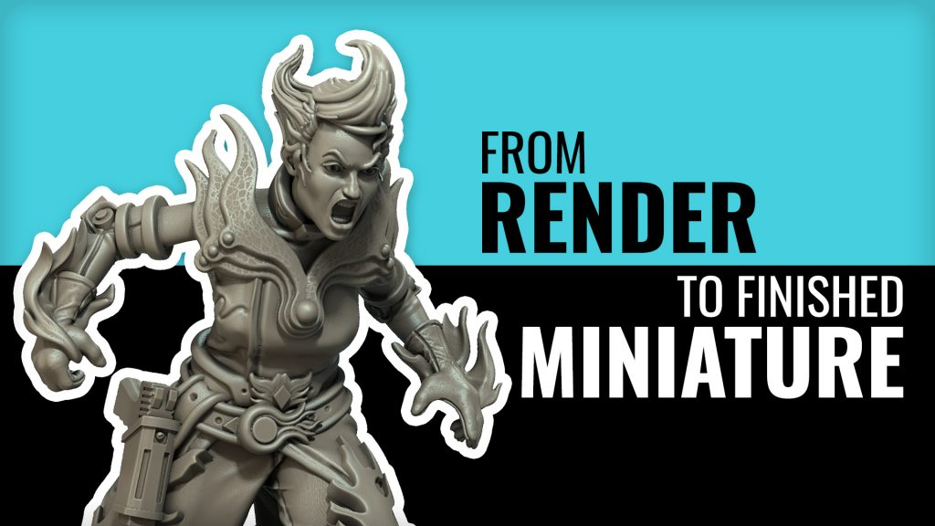Gangs Of The Undercity: From Render To Miniature!