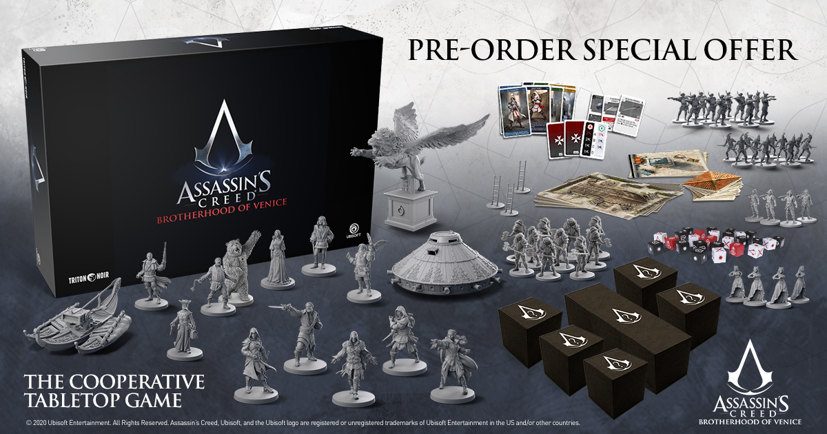Pre Orders Still Up Triton Noir S Assassin S Creed Board Game Ontabletop Home Of Beasts Of War