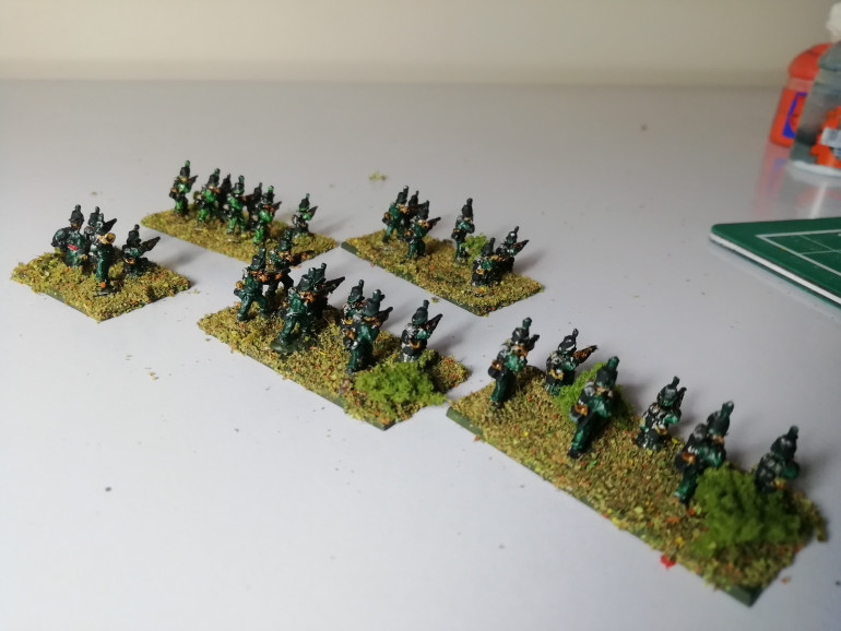 I also added more foliage to represent them skirmishing