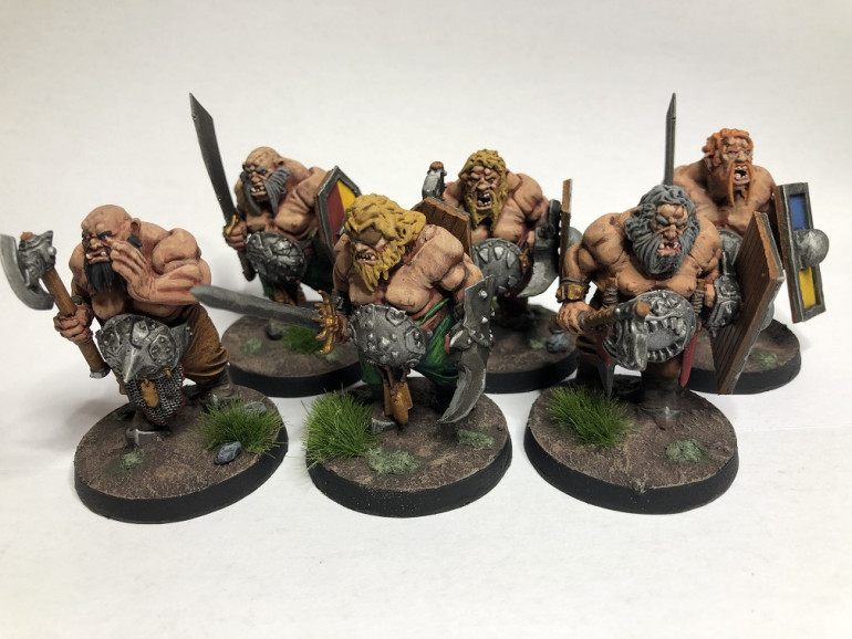 More 'Ancient German' Ogres. 16 hours from sprue to tabletop
