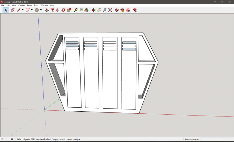 So during the print of the bunks i decided that they need lockers lol