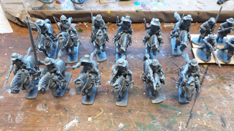 One of the plastic cavalry units