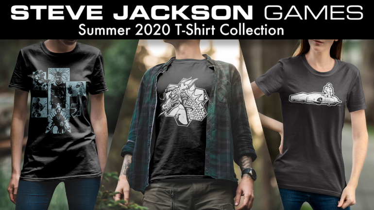 Steve Jackson Games Summer 2020 T-Shirt Collection