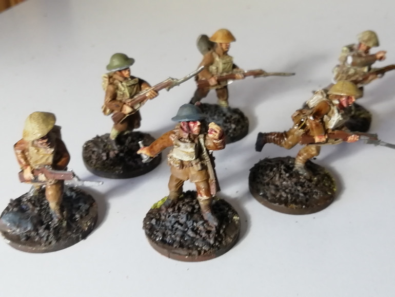 All squads rebased and chipped paint repaired