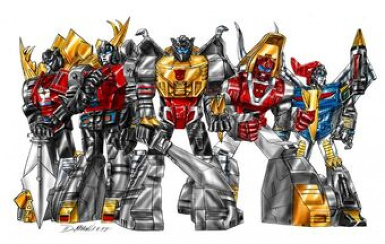 Dinobots from the Transformers universe
