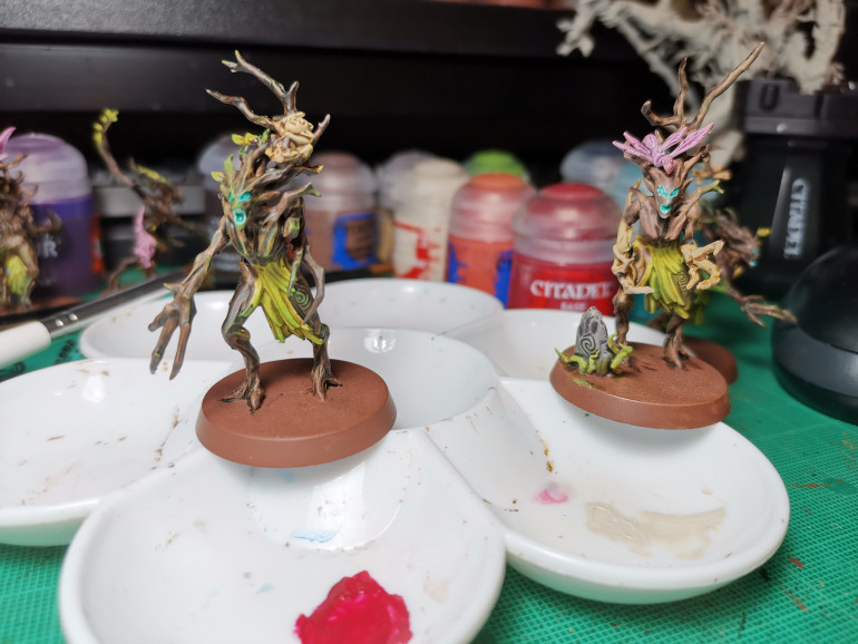 Finally got a decent picture of the paint job for a Dryad.