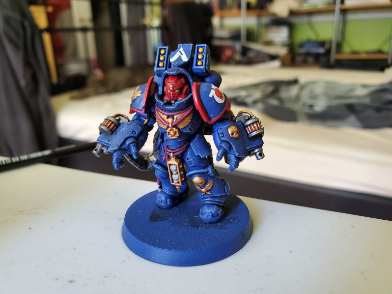 Then with the decals added (though he did get an extra one on his knee after taking this picture) he's all done!
