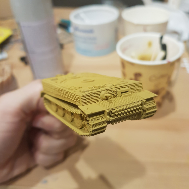 Dark Yellow base coat done